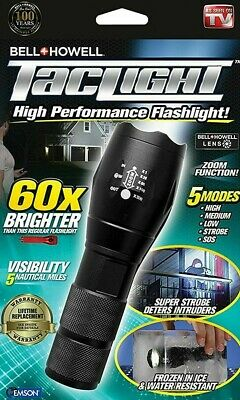 Bell Howell Taclight 60x Brighter Tactical Flashlight As Seen On