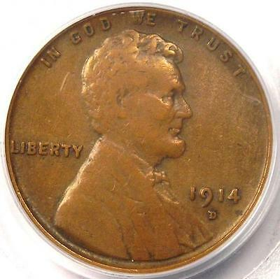 1914-D Lincoln Wheat Cent 1C - PCGS VF35 (Nice Very Fine) - Rare Key Date Penny