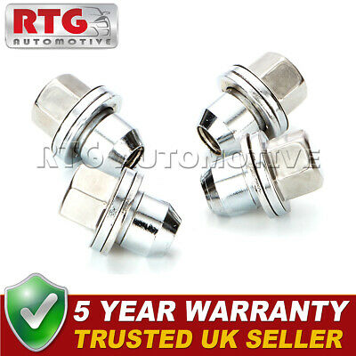 4x Stainless Steel Wheel Nuts + Washers For Range Rover L322 06-12 22mm Hex