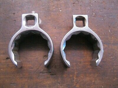 """2 - Belzer Crowsfoot Wrenches Flare Nut. 1 11/16"""" & 1 3/4""""  No 1950 Imperial."""