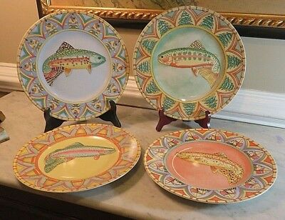 3916358375 SPLASH BY SIDDHIA Hutchinson - Essex - Ceramic Fish Salad Plates 8 1 ...
