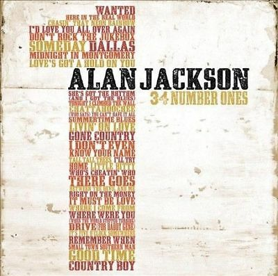Alan Jackson (2 Cd) 34 Number Ones ~ Greatest Hits / Best Of-Very Good Condition