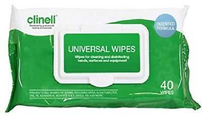 Clinell Universal Hand & Surface Sanitising, Disinfectant Wipes Pack Of 40