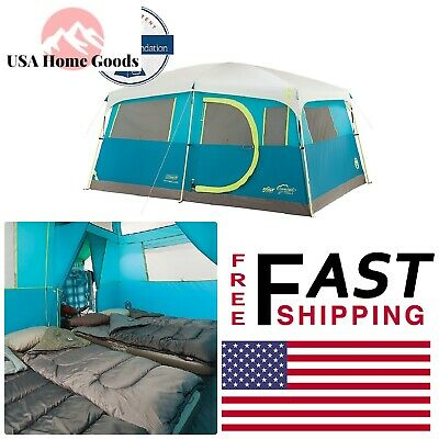 Coleman ® Lake Fast Pitch Cabin Tent W/ Closet (8 Person) Foldable Camping