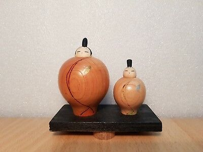Vintage Japan Made Pair Fruit shape Kokeshi doll (5-7 cm)