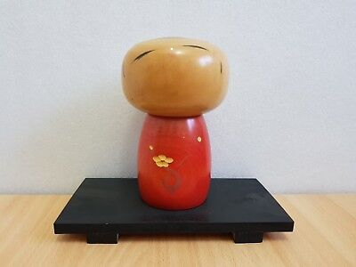 "Japan Made Kokeshi doll ""Spring"" by Hashime Takahashi with woodbase (20 cm)"