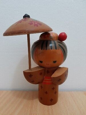 Beauty Vintage 1972 Japan Made Kokeshi doll (15 cm)