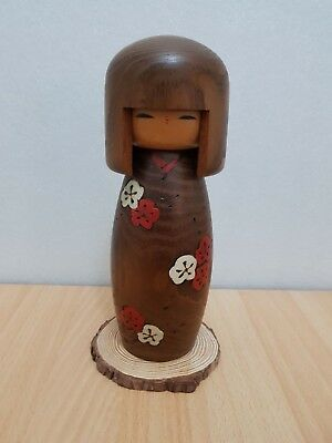 Japan Made Creative Kokeshi doll with wood base by Usaburo (25 cm)