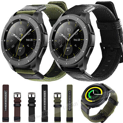 Woven Nylon Watch Strap Band For Garmin Vivoactive 3 Vivomove HR Galaxy Watch