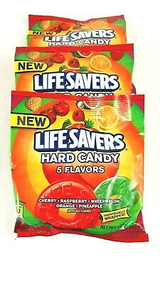Life Savers Candy Five Flavors Fruit Variety Hard Individually Wrapped 3 Packs