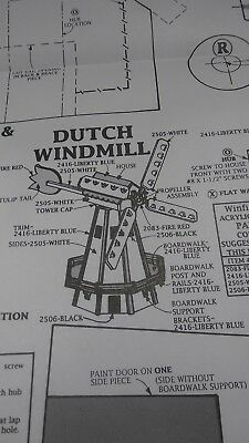 Winfield Collection Woodworking Pattern - Dutch Windmill - UNUSED - #MILL