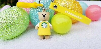 Starbucks Easter Limited Coffee Barista Metal Key Chain Ring Charm Bearista 19