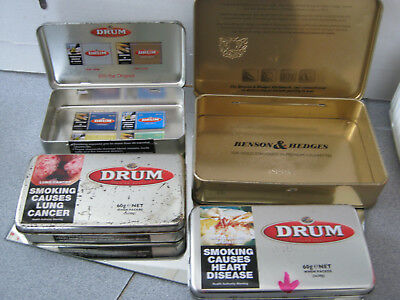 Benson & Hedges  And Drum Collectible Tins