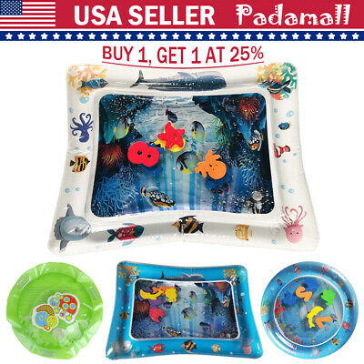 Inflatable Baby Water Play Mat for Kids Children Infants Fun Best Tummy Time US