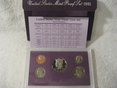 1991 S US Mint Proof Coin Set Free shipping
