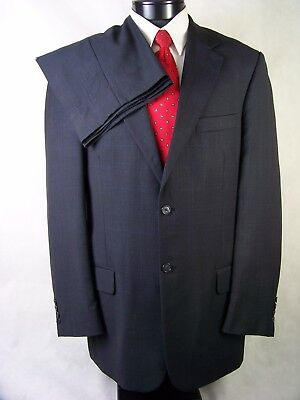 Evan Picone Mens Suit Gray Glen Check Wool Size 40L