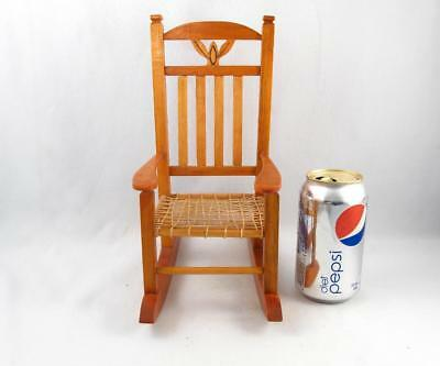 Vintage Miniature Folk Art Hand Made Rocking Chair