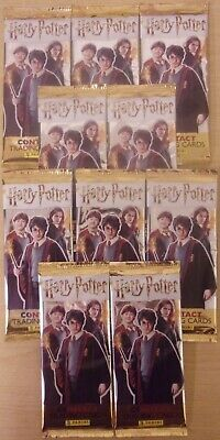 Harry Potter Contact ~ Panini Trading Card Collection ~ 10 x Sealed Packs