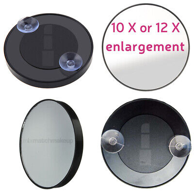 5x or 10x Magnifying Mirror, With Suction Cups.
