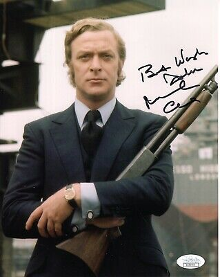 MICHAEL CAINE AUTHENTIC SIGNED 8x10 COLOR PHOTO     GET CARTER    JSA    TO JOHN