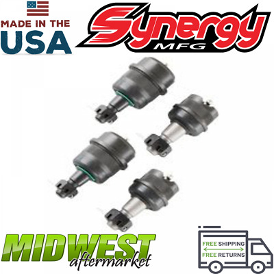 Synergy D30/D44 Heavy Duty Front Ball Joint Sets Fits 2007-2017 Jeep Wrangler JK