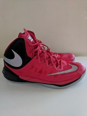new product 0a87b c3876 Nike Men s Prime Hype DF II Basketball Shoes 806941-600 Size 11 Red-Black