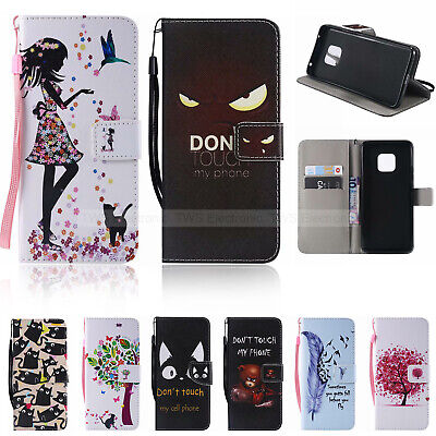 Luxury Magnetic Leather Flip Wallet Case Cover For Huawei P10 Mate20