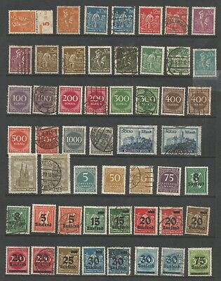 Germany Stamp Collection Lot 5 -  #221 // #288 - 105 MH/Used 2 Scans CV $105.90