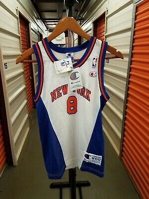 100% authentic c5547 a75f9 CHAMPION NEW YORK Knicks Latrell Sprewell Basketball Jersey Youth M Adult  Small.
