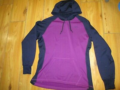 d8d114634800 Nike Women s Therm-Fit Hoodie Purple Hooded Sweatshirt MEDIUM