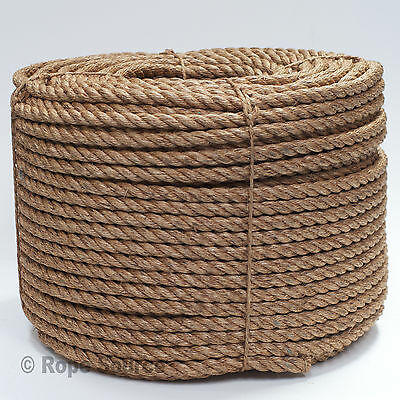 Natural Manila Decking Rope 28Mm - Various Lengths Avilable Strong Garden Rope