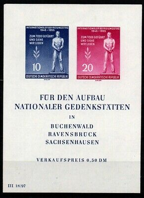Germany DDR 1955 - Mi Block 11 - MNH