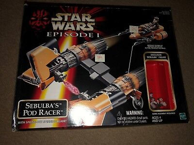Star Wars Episode 1 Sebulba's Pod Racer Vehicle With Sebulba Figure Bin Getbonus