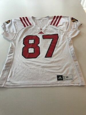 huge selection of 3edfc 2b5c8 Game Worn Used Louisville Cardinals UL Football Jersey Adidas Size 48  87