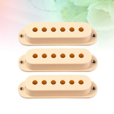 3pcs Pickup Covers Plastic Single Coil Premium Pickup Covers for Electric Guitar