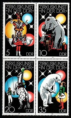Germany DDR 1978 - Circusart - Block of 4 - Mi 1952-1955 - MNH