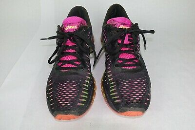 new concept 645ad 89d9c ASICS WOMENS GEL Quantum 360 CM Running Shoes Black pink mesh 11 Great  preowned
