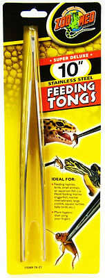 Zoo Med Stainless Feeding Tongs All Animal Fish Reptile Snake.. Free Ship To Usa