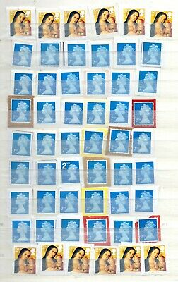 51) 100 GB 2nd Class Stamps Unfranked On Paper As Shown FV £58.00 Charity Sale