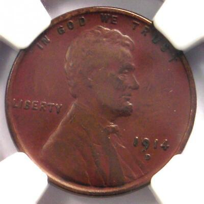 1914-D Lincoln Wheat Cent 1C - NGC VF25 (Very Fine) - Rare Key Date Penny!