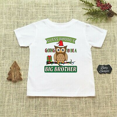 Threadrock Baby Boys Guess Hoo/'s Going to Be a Big Brother Infant Bodysuit Owl