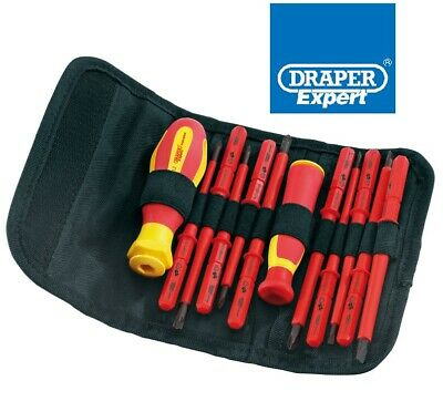 18 Pieces Draper 5776 Interchangeable Insulated Screwdrivers