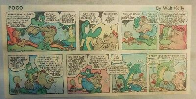 Pogo Sunday by Walt Kelly from 3/30/1958 Third Page Size!