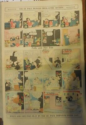 Polly and Her Pals Sunday by Cliff Sterrett from 10/18/1931 Full Page Size !