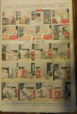 Polly and Her Pals Sunday by Cliff Sterrett from 4/10/1932 Full Page Size !