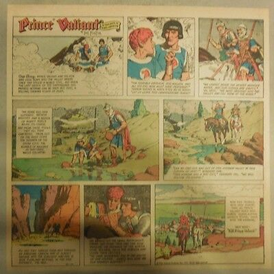 Prince Valiant Sunday by Hal Foster from 10/10/1971 2/3 Full Page Size !
