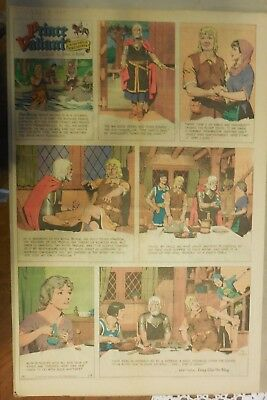 Prince Valiant Sunday by Hal Foster from 1/8/1967 Rare Full Page Size !
