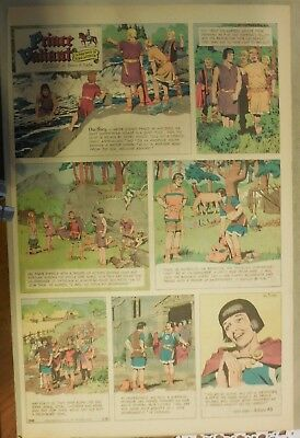 Prince Valiant Sunday by Hal Foster from 2/26/1967 Rare Full Page Size !