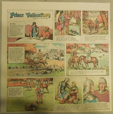 Prince Valiant Sunday by Hal Foster from 8/13/1967 2/3 Full Page Size !
