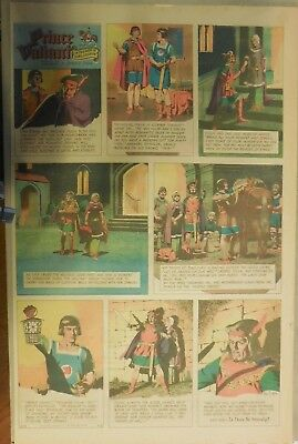 Prince Valiant Sunday by Hal Foster from 4/2/1967 Rare Full Page Size !